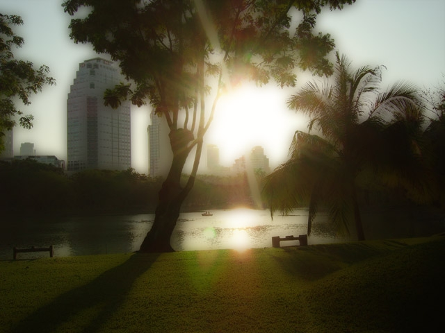 Lumpini Park Sunset